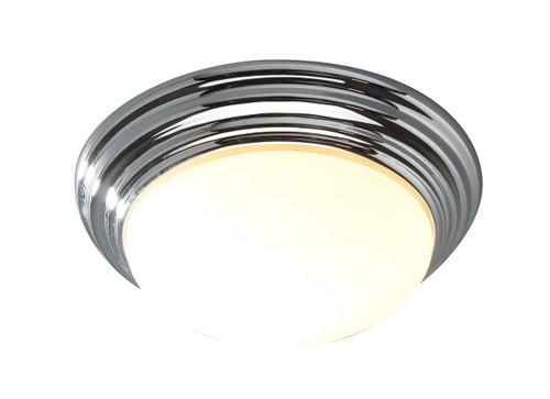 Barclay Polished Chrome IP44 Small Flush Ceiling Light