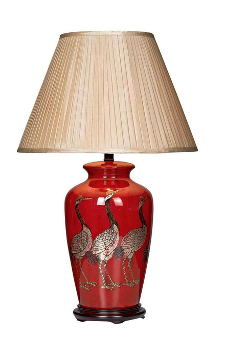 Bertha Bird Red Table Lamp Base Only