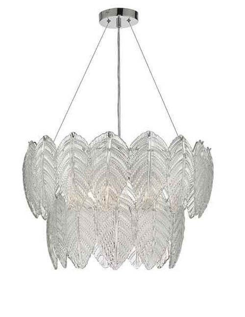 Phillipa 3 Light Clear Glass And Polished Chrome Pendant Light