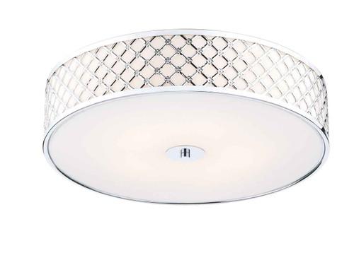 Civic 5 Light Polished Chrome Large Flush Ceiling Light
