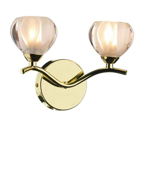 Cynthia Polished Brass Double Wall Light