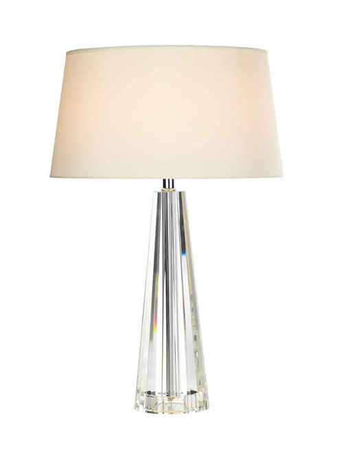 Cyprus Tapered Crystal with Shade Table Lamp