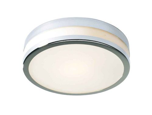 Cyro Polished Chrome Large IP44 Flush Ceiling Light