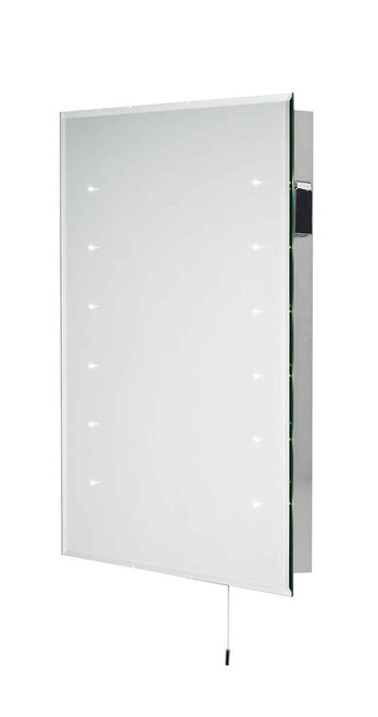 Diamond Medium with Shaver Socket IP44 LED Bathroom Mirror