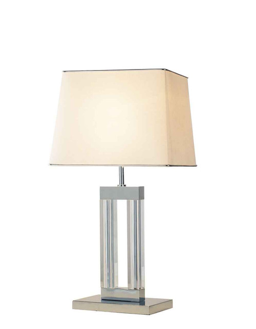 Domain Quartz Glass with shade Table Lamp