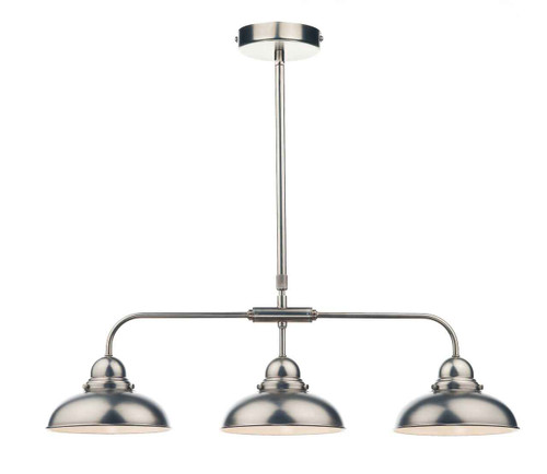 Dynamo 3 Light Antique Chrome Bar Pendant Light