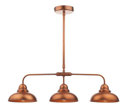 Dynamo 3 Light Antique Copper Bar Pendant Light