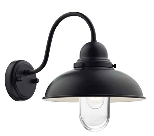 Dynamo 1 Light Matt Black IP44 Wall Light