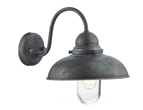 Dynamo 1 Light Aged Iron IP44 Wall Light