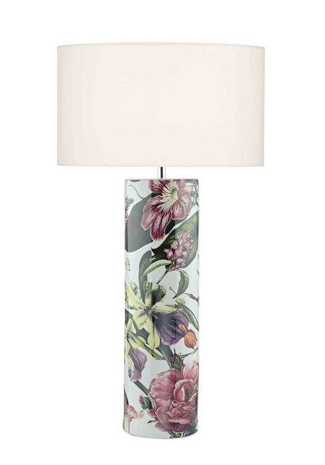 Elana Tropical Print Ceramic Table Lamp Base Only