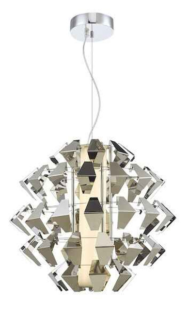 Falcon Polished Chrome and Textured Polished Chrome LED Pendant Light