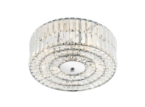 Errol Polished Chrome and Crystal Semi Flush Light
