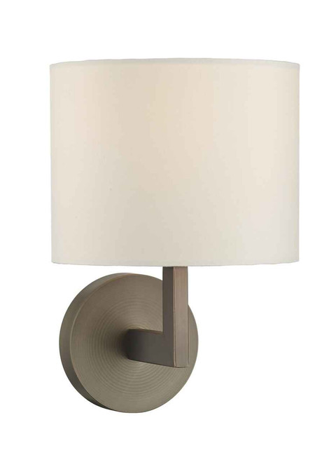 Ferrara Bronze Round Base Square Arm Wall Light Base Only