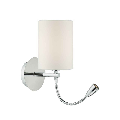 Feta Polished Chrome LED Reading Wall Light Base Only