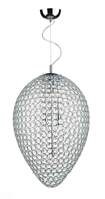 Frost 5 Light Polished Chrome and Crystal Pendant Light