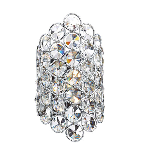 Frost 1 Light Polished Chrome and Crystal Wall Light