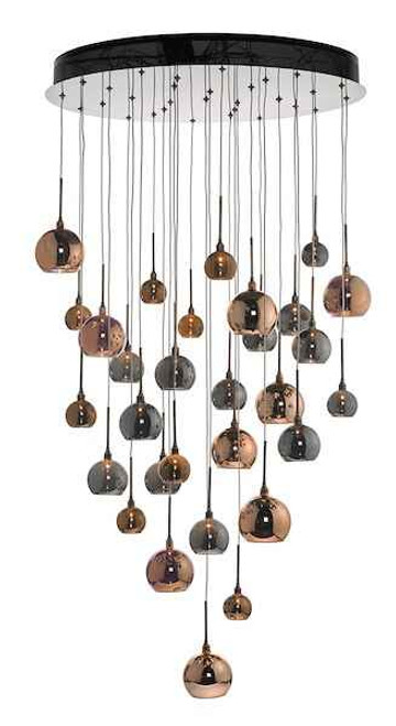 Aurelia 30 Light Copper & Bronze Cluster Pendant Light