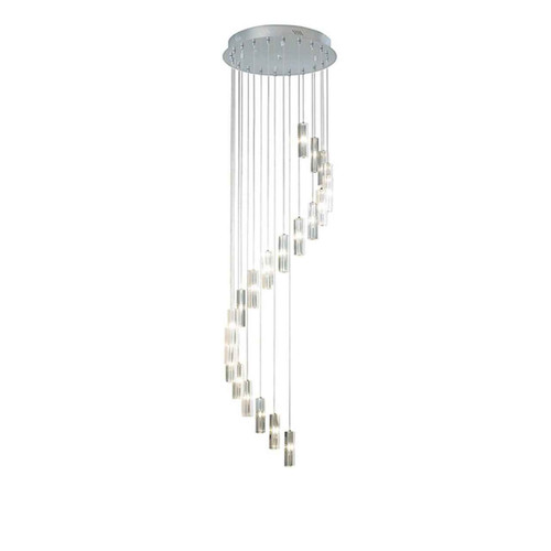 GALILEO 20lt Polished Chrome LED Pendant Light 3mtr