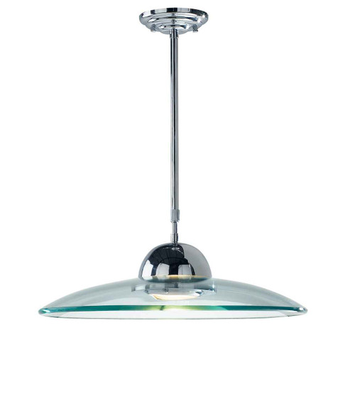 Hemisphere Polished Chrome and Clear Glass Pendant Light