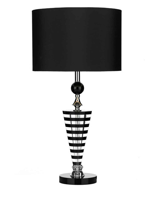 Hudson K9 Crystal Black Clear with Shade Table Lamp