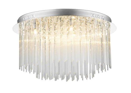 Icicle 8 Light Glass Tube Flush Ceiling light