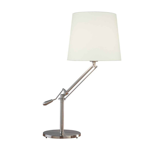 Infusion Satin Chrome Complete with Shade Table Lamp