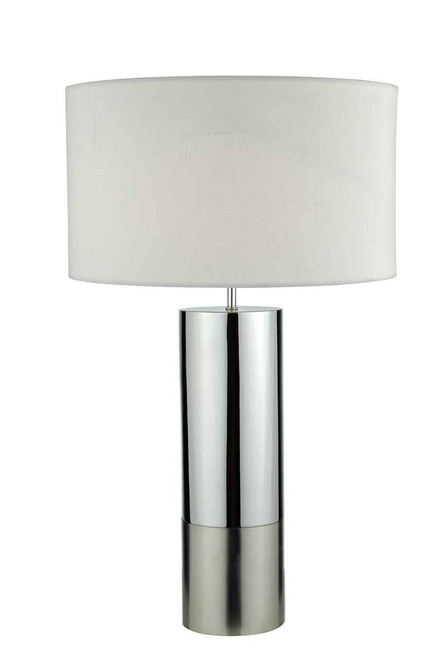 Ingleby 2 Tone Base Polished Chrome And Brushed Chrome With Shade Table Lamp