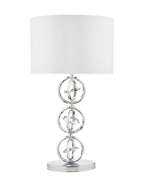 Innsbruck Polished Chrome with Ivory Shade Table Lamp