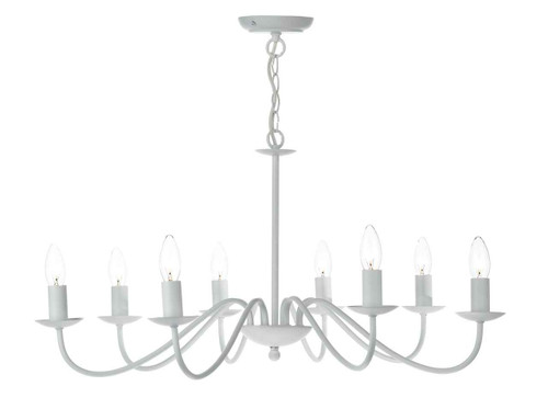 Irwin White 8 Light Dual Mount Pendant Light Chandelier