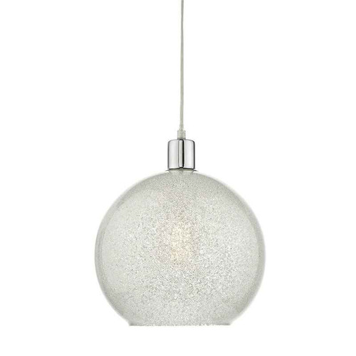 Janna Crystal Dust Glass Non Electric Easy Fit Pendant Light