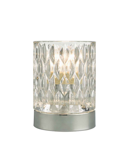 Jill Touch Polished Chrome Glass Table Lamp