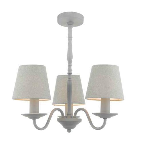 Joanna 3 Light Grey with Grey Shades Pendant Light