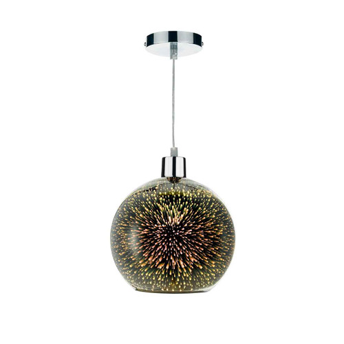 KAI Speckled 3D Glass Non Electric Easy Fit Pendant Light