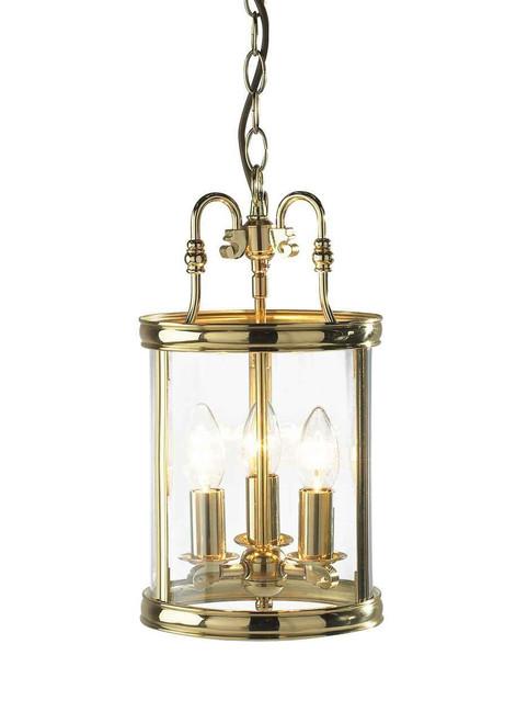 Lambeth Circular Hall Polished Brass Dual Mount Lantern