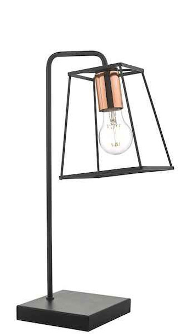 Tower Black and Copper Table Lamp