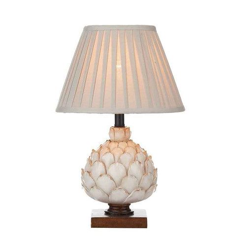 Layer Antique Cream with Wood Small with Shade Table Lamp