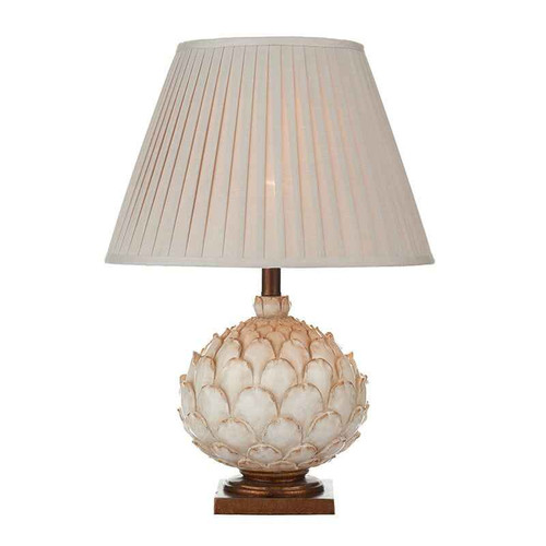 Layer Antique Cream with Wood Large with Shade Table Lamp
