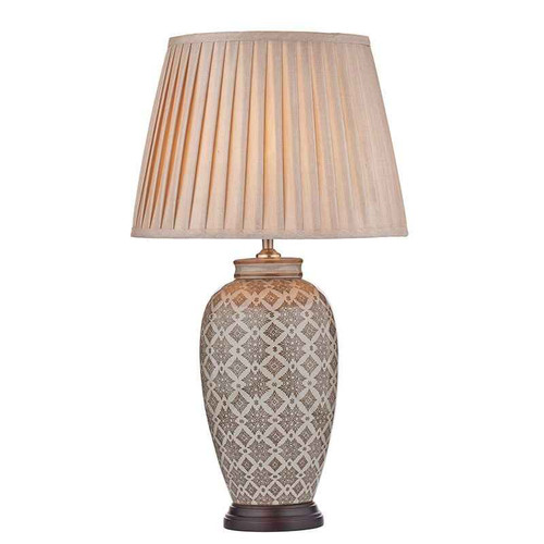 Louise Brown Cream Table Lamp Base Only