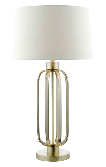 Lucie Satin Brass with Shade Table Lamp