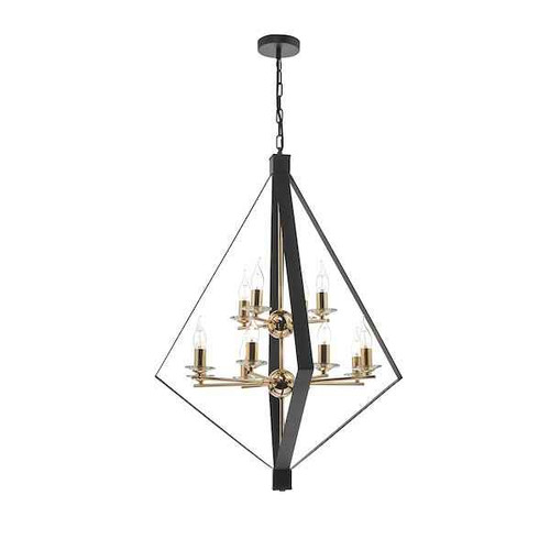 Neyah 12 Light Black & Gold Pendant Light