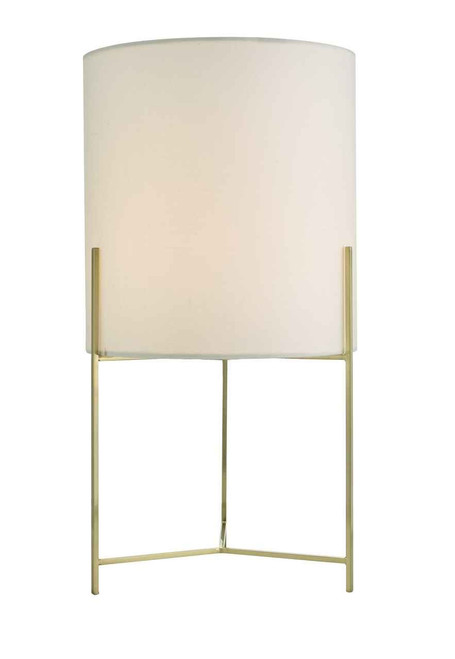 Michaela Satin Gold with Shade Table Lamp