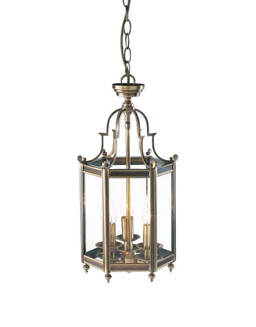 Moorgate Hexagonal Antique Brass Dual Mount Hall Lantern