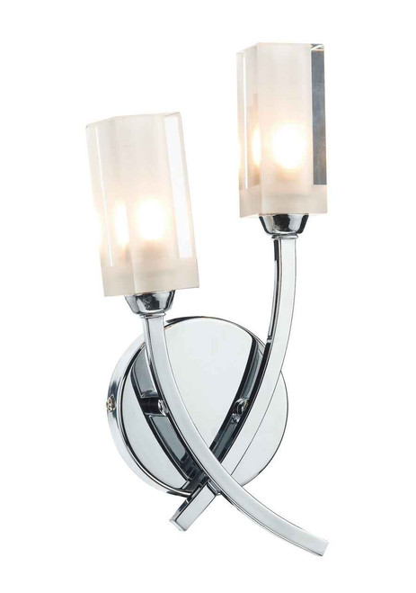 Morgan Polished Chrome Double Wall Light