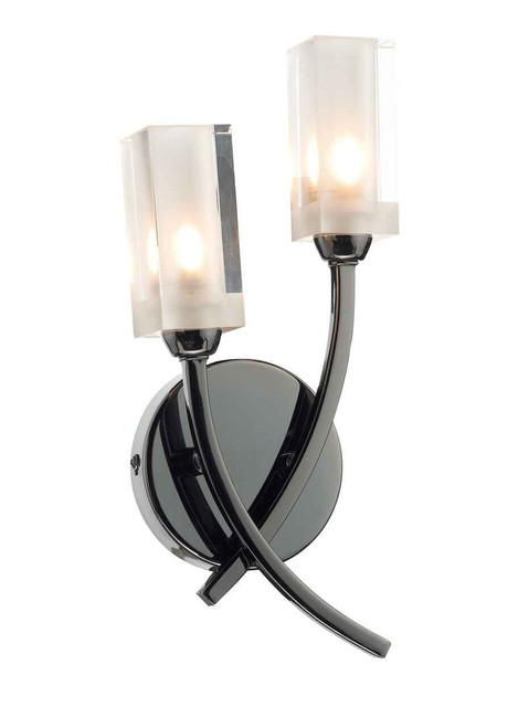 Morgan Black Chrome Double Wall Light