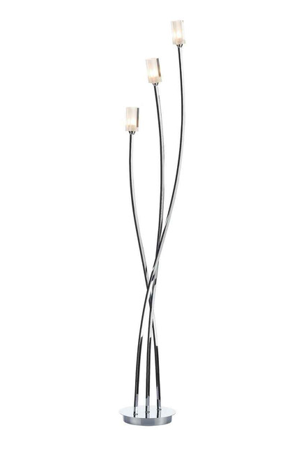 Morgan 3 Light Polished Chrome Floor Lamp