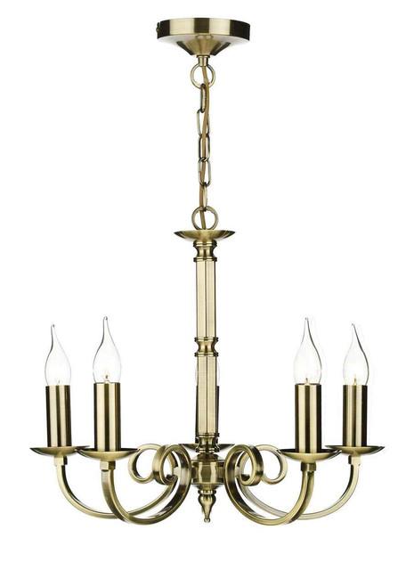 Murray 5 Light Antique Brass Dual Mount Pendant Light