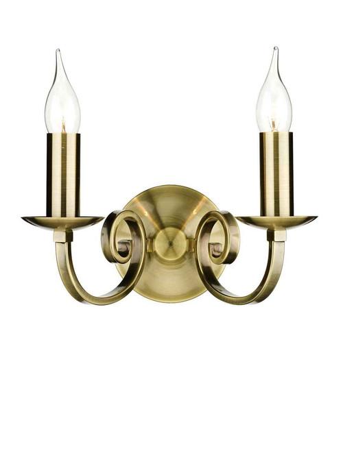 Murray Antique Brass Double Wall Light