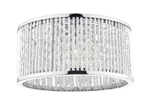 Nantes 3 Light Polished Chrome Aluminium Flush Ceiling Light