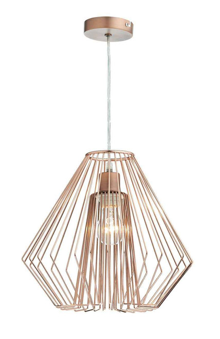 Needle Polished Copper Non Electric Easy Fit Pendant Light