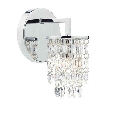 Niagra Polished Chrome Clear Single Wall Light